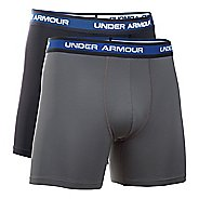 "Mens Under Armour Performance Mesh 6"" 2-Pack Boxer Brief Underwear Bottoms"