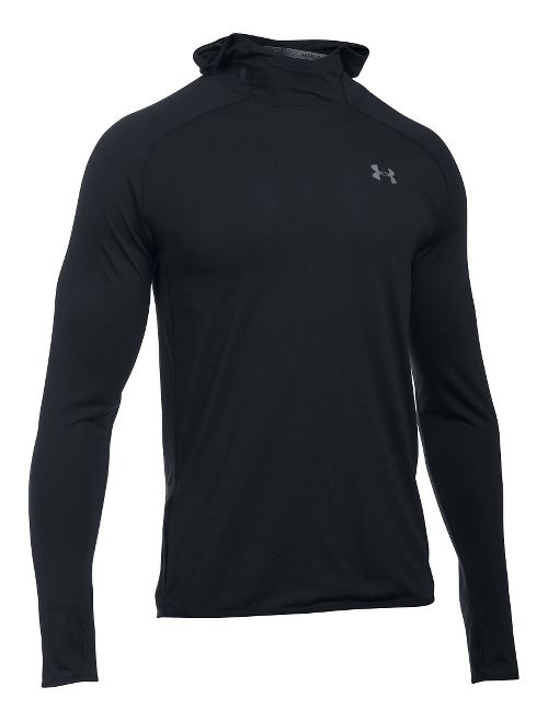 Mens Under Armour Streaker Pull-Over Half-Zips & Hoodies Technical Tops - Black L