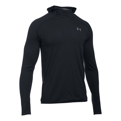 Mens Under Armour Streaker Pull-Over Half-Zips & Hoodies Technical Tops - Black M