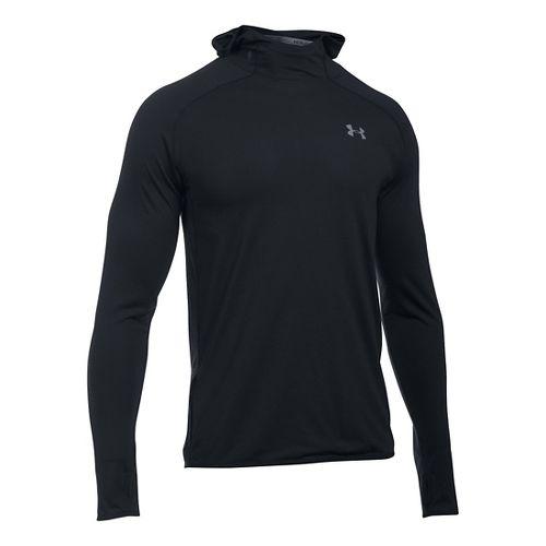 Mens Under Armour Streaker Pull-Over Hoodie & Sweatshirts Technical Tops - Black S