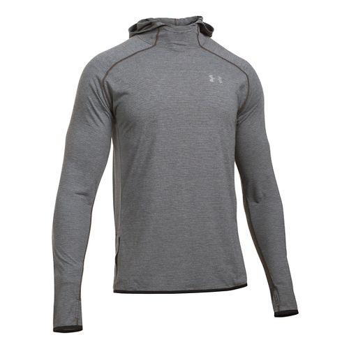 Mens Under Armour Streaker Pull-Over Half-Zips & Hoodies Technical Tops - Carbon Heather L