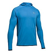 Mens Under Armour Streaker Pull-Over Half-Zips & Hoodies Technical Tops - Brilliant Blue/Navy XL