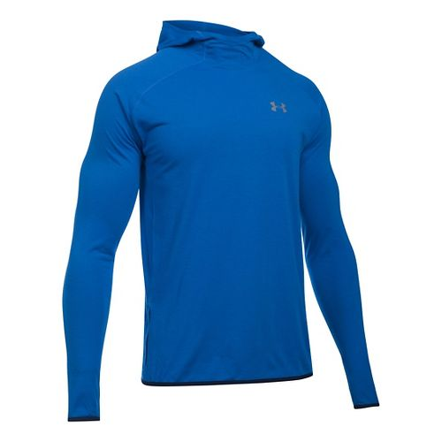 Mens Under Armour Streaker Pull-Over Hoodie & Sweatshirts Technical Tops - Ultra Blue L