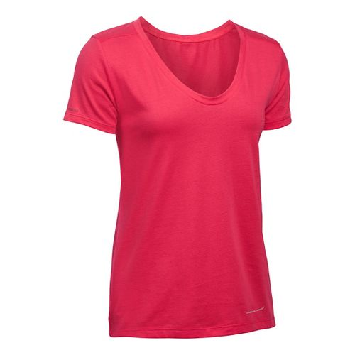 Womens Under Armour Charged Cotton Microthread Short Sleeve Technical Tops - Knock Out S