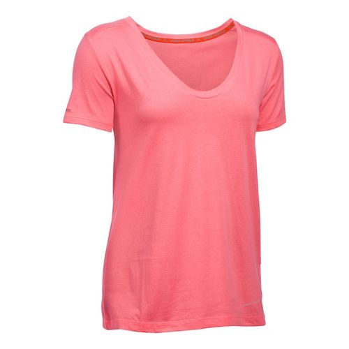 Womens Under Armour Charged Cotton Microthread Short Sleeve Technical Tops - Brilliance XS