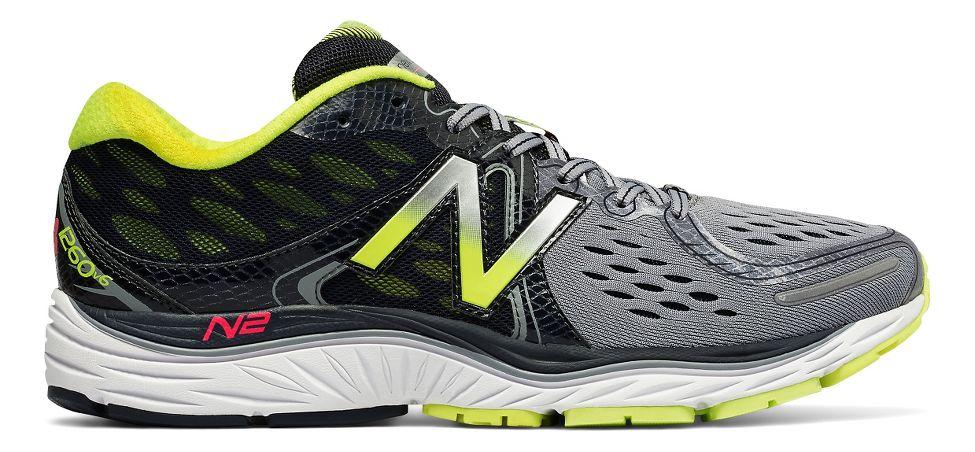Mens New Balance 1260v6 Running Shoe - Grey/Yellow 8