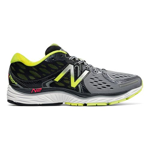 Mens New Balance 1260v6 Running Shoe - Grey/Yellow 9