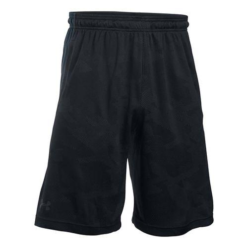 Mens Under Armour Raid Jacquard Unlined Shorts - Black L
