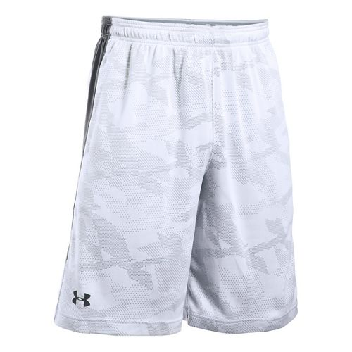 Mens Under Armour Raid Jacquard Unlined Shorts - White/Graphite M