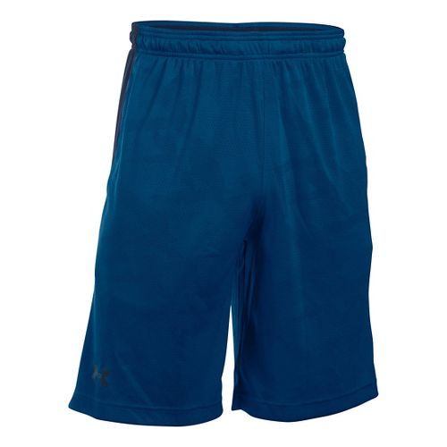Mens Under Armour Raid Jacquard Unlined Shorts - Heron/Midnight Navy S