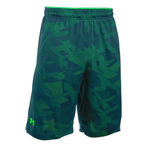 Mens Under Armour Raid Jacquard Unlined Shorts - Nova Teal/Green L