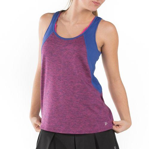 Womens Skirt Sports Take Five Sleeveless & Tank Technical Tops - Razz Stardust/Marine M