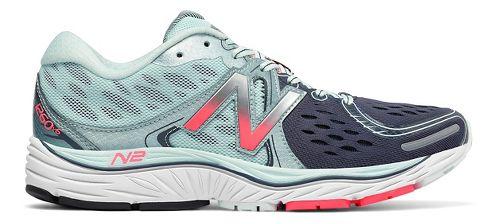 Womens New Balance 1260v6 Running Shoe - Mint/Pink 10.5