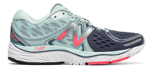 Womens New Balance 1260v6 Running Shoe - Mint/Pink 9.5