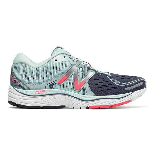 Womens New Balance 1260v6 Running Shoe - Mint/Pink 11.5