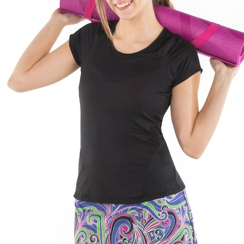 Womens Skirt Sports Circuit Tee Short Sleeve Technical Tops - Black XS