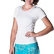 Womens Skirt Sports Circuit Tee Short Sleeve Technical Tops - White M