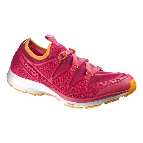 Womens Salomon Crossamphibian Hiking Shoe - Lotus Pink/Gold 10.5