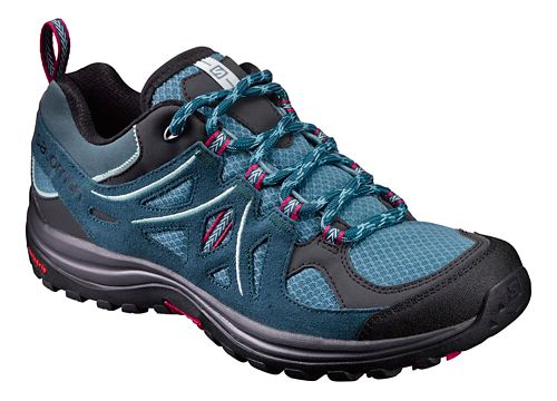 Womens Salomon Ellipse 2 Aero Hiking Shoe - Black/Teal 5.5