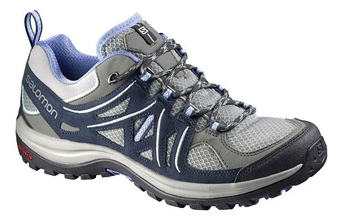 Womens Salomon Ellipse 2 Aero Hiking Shoe - Grey/Blue 7