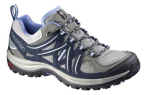 Womens Salomon Ellipse 2 Aero Hiking Shoe - Grey/Blue 8.5