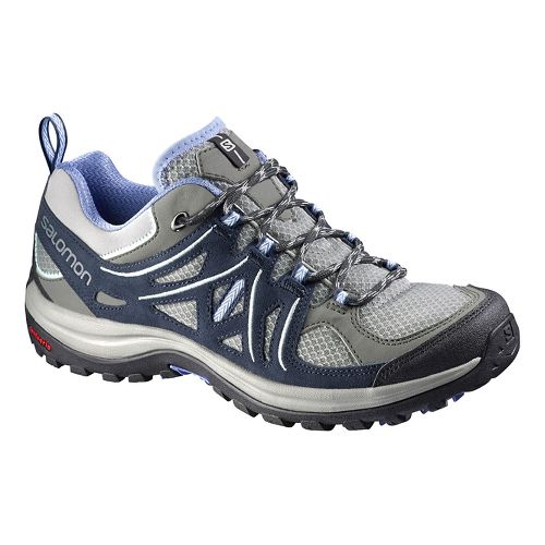 Womens Salomon Ellipse 2 Aero Hiking Shoe - Grey/Blue 5.5