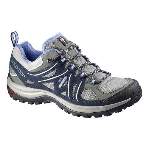 Womens Salomon Ellipse 2 Aero Hiking Shoe - Grey/Blue 7