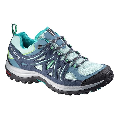Womens Salomon Ellipse 2 Aero Hiking Shoe - Grey/Blue 9