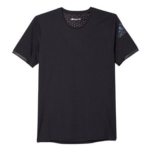 Mens adidas Supernova Climachill Tee Short Sleeve Technical Tops - Black Melange M