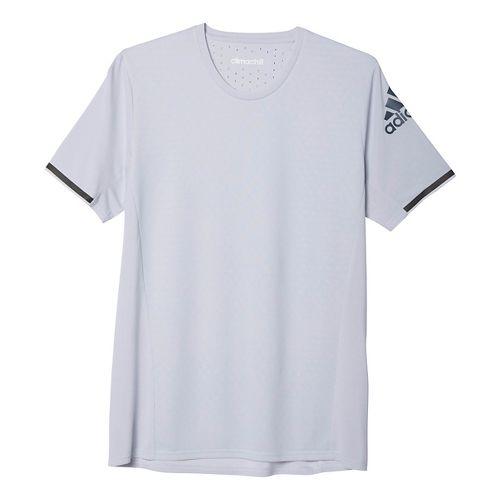 Mens adidas Supernova Climachill Tee Short Sleeve Technical Tops - White Melange L
