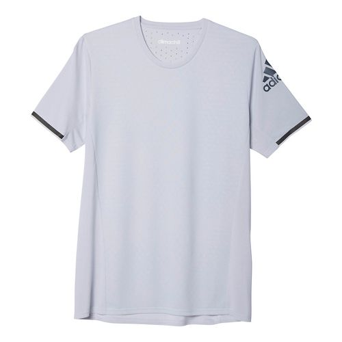 Mens adidas Supernova Climachill Tee Short Sleeve Technical Tops - White Melange XL