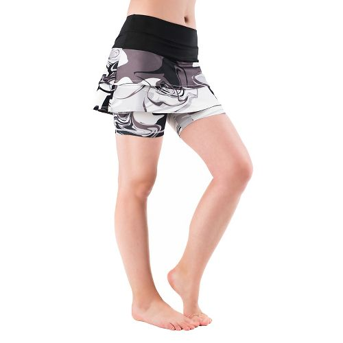 Womens Skirt Sports Cascade Skorts Fitness Skirts - Black/Persevere L