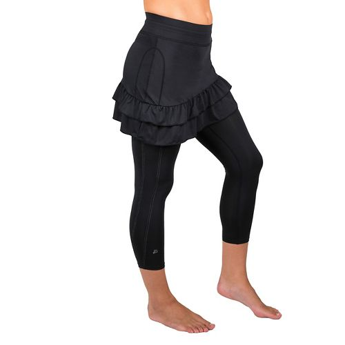 Womens Skirt Sports Vixen Capri Skorts Fitness Skirts - Black XL