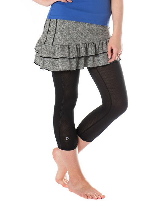 Womens Skirt Sports Vixen Capri Skorts Fitness Skirts - Grey Stardust/Black XS