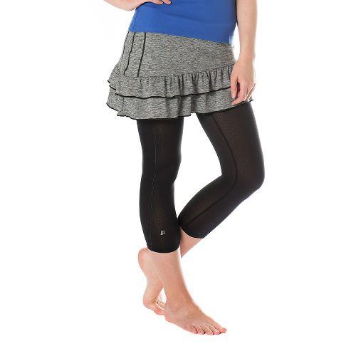 Womens Skirt Sports Vixen Capri Skorts Fitness Skirts - Grey Stardust/Black L