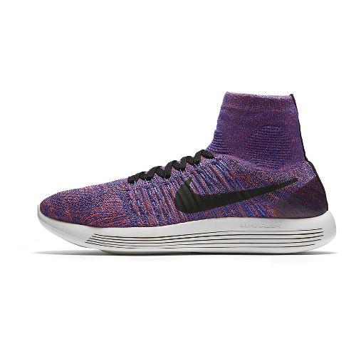 Mens Nike LunarEpic Flyknit Running Shoe - Black/Crimson 12
