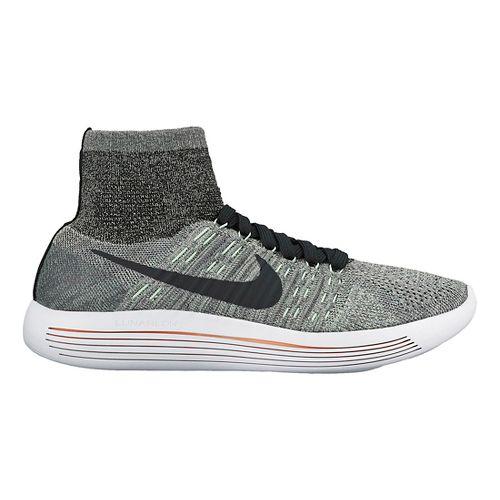 Womens Nike LunarEpic Flyknit Running Shoe - Grey/Mint 11