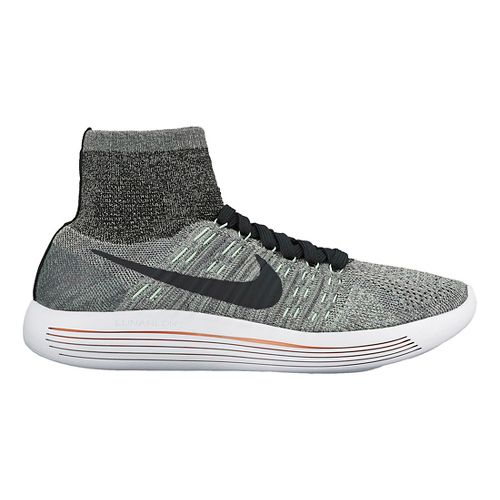 Womens Nike LunarEpic Flyknit Running Shoe - Grey/Mint 9.5
