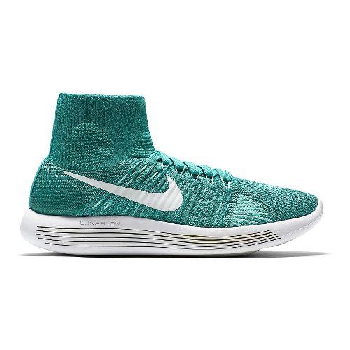 Womens Nike LunarEpic Flyknit Running Shoe - Jade 7