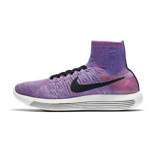 Womens Nike LunarEpic Flyknit Running Shoe - Hot Punch 10