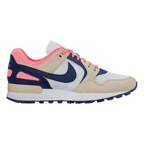Womens Nike Air Pegasus '89 Casual Shoe - White/Blue 9