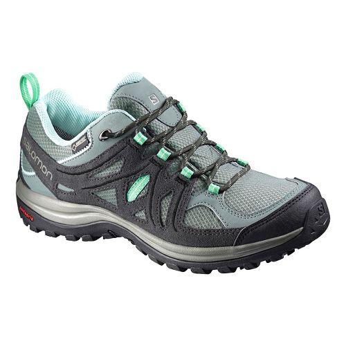 Womens Salomon Ellipse 2 GTX Hiking Shoe - Grey/Green 7