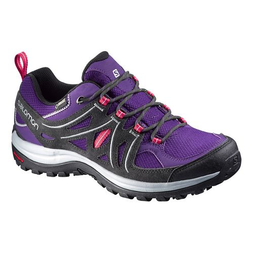 Womens Salomon Ellipse 2 GTX Hiking Shoe - Purple/Pink 5