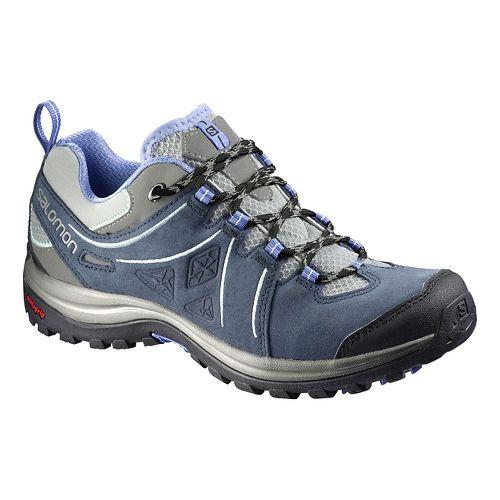 Womens Salomon Ellipse 2 LTR Hiking Shoe - Blue/Purple 7.5