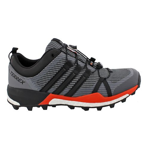 Mens adidas Terrex Skychaser Trail Running Shoe - Black/Energy 14