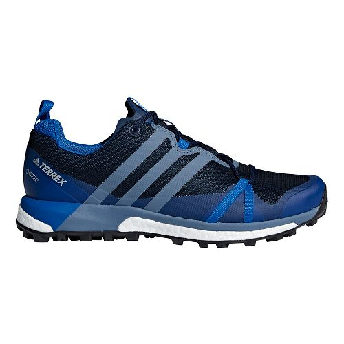 Mens adidas Terrex Agravic GTX Trail Running Shoe - Navy/Steel 10