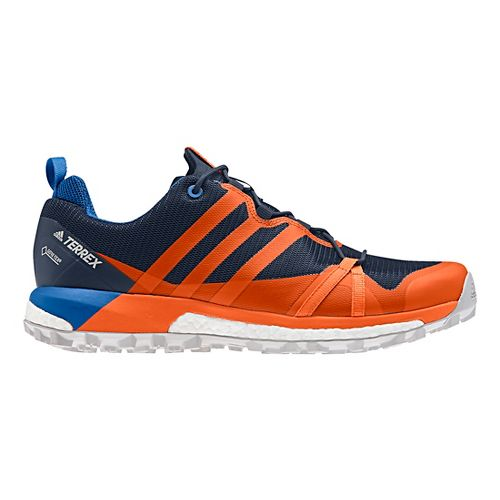 Mens adidas Terrex Agravic GTX Trail Running Shoe - Navy/Orange 10