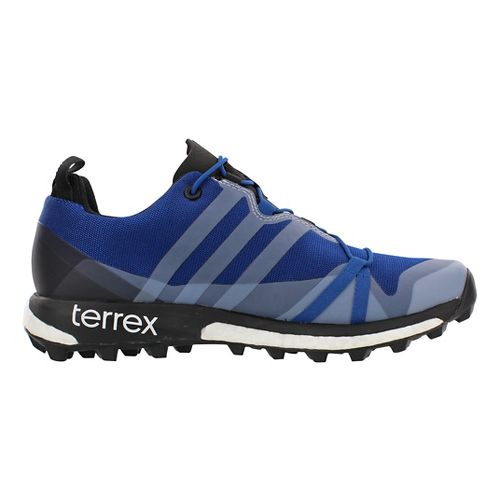 Mens adidas Terrex Agravic GTX Trail Running Shoe - Blue/Black 11.5