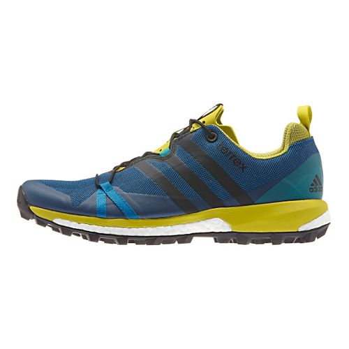 Mens adidas Terrex Agravic Trail Running Shoe - Steel/Blue 9.5