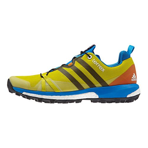 Mens adidas Terrex Agravic Trail Running Shoe - Yellow/Lime 10.5